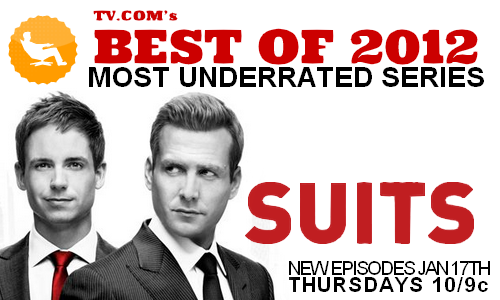 sweetestel:   ONLY THREE DAYS HOURS LEFT TO VOTE FOR SUITS FOR MOST UNDERRATED SERIES We're ahead for now but we've got an alpha pack on our tracks and they're ferocious! But if you believe that Suits is as awesome and still less known than Teen Wolf, time to get voting! Spread the word, phone your Grammy, tell your friends, get your associates to vote! Let's show the cast and crew of Suits that we love their show and believe more people should hear about it!  Are we going to win this poll, Suitors? Are we that pony?     Three hours left and the alphas are ahead. Get voting, Suitors!!