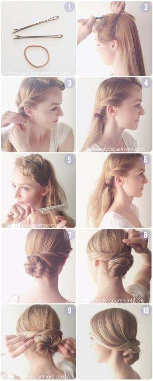 Wondering how to create the perfect, romantic chignon? Well, The Beauty Department shoes you how to in this simple 10 step tutorial! This is such an easy & cute way to add some femininity to your look.  <3 Chelsey, ModStylist  Need styling suggestions, trend tips, or dress details? Ask a ModStylist and your question might be featured on our feed!