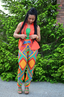 sweeneegurl:  Burst of Colors    Pants: Sweenee Here  / Top: H&M / Tank: Forever21 / Shoes Luichiny View Post