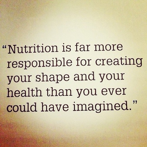 The importance of nutrition to health and lifestyle
