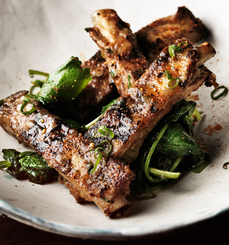 gnammygnammy:   Glazed Pork Ribs with Shichimi Togarashi