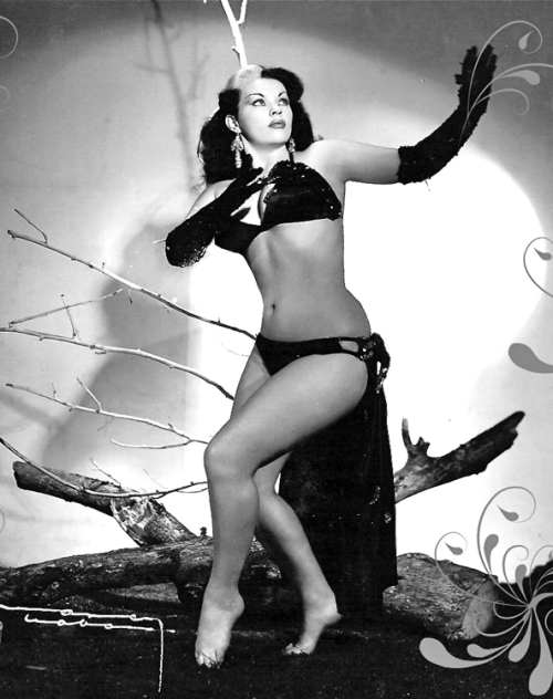 "Dancer and actress Yolanda Montes ""Tongolele"" c. 1950s"