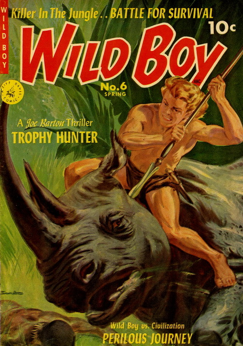 Wild Boy of the Congo (No.6, 1952)Cover Art by Norman Saunders