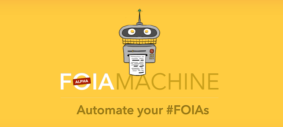 onaissues:  Hello FOIA Machine! Do you have a Freedom of Information Act request to file? FOIA Machine can do it for you. The open-source web platform will file and track your FOIA requests, guiding you through the process and sending you alerts when you should follow up. The service is in beta now and will be expanding even more in the future.   PSA, fellow journalists.