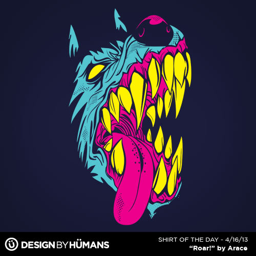 """Roar"" by Arace On sale today $15 @ http://bit.ly/ShirtOfTheDay"