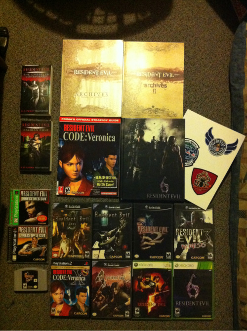 dearestforsaken:  I think my love for Resident Evil is pretty obvious…