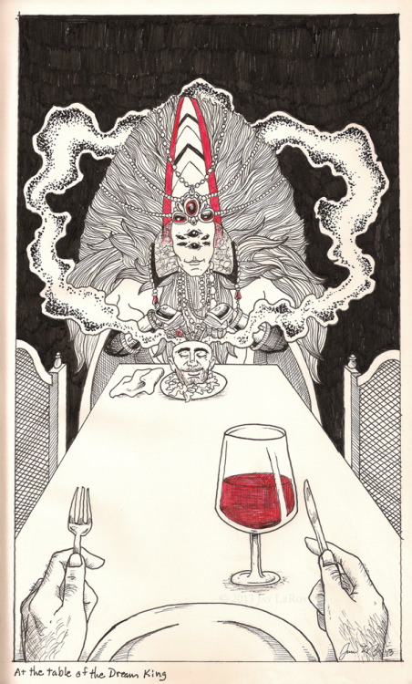 jayleroy:  At the table of the Dream King Micron Pens in Moleskine journal