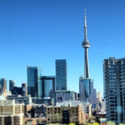 #CN tower. Reminding #Torontonians how beautiful our city is on a sunny day. The sun will come out, tomorrow. #toronto #buildings