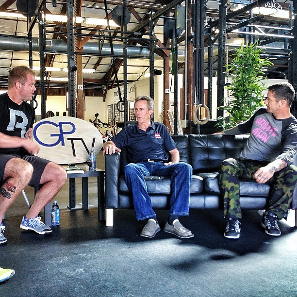 Mark Allen, @mobilitywod TJ Murphy and I went deep today! Honored to of had Mark on @gptelevision.