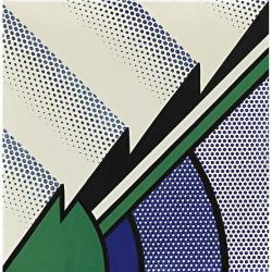 Roy Lichtenstein-Blue and Green Modern Painting,1967.