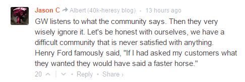 warhammer-references:  councilof13:  Best BOLS comment ever. Kudos Jason C!  Praise!
