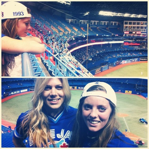 A night with @rosettachedda is a good one #beers #nosebleeds #bluejays