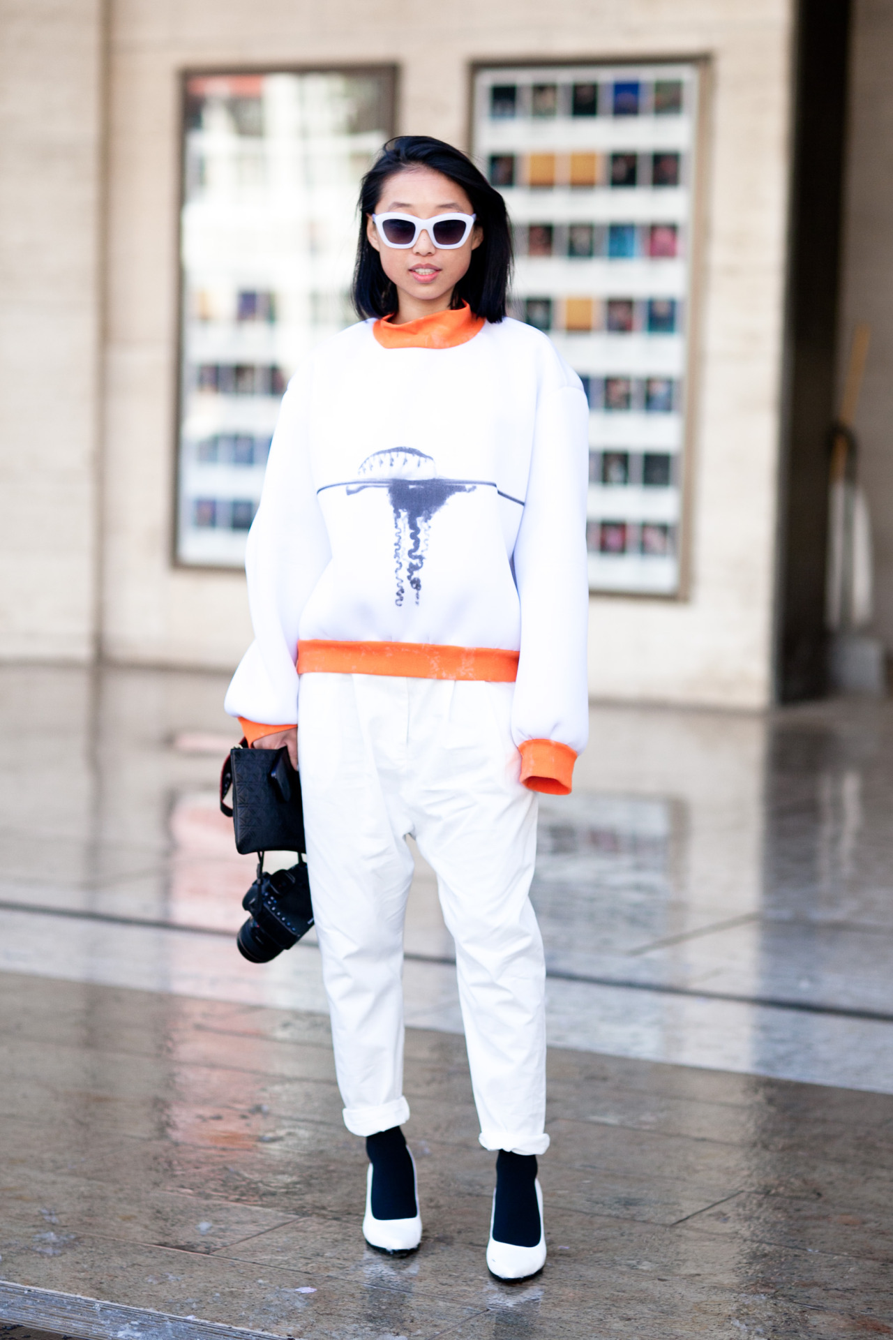 "FW Style: Margaret Zhang Since Margaret Zhang is both fashion blogger for Shinebythree.com and Fashion/Creative Director at Slate Retail Group, she's got lots of reasons to be in town for New York Fashion Week. ""If there's one thing that's sold out in stores everywhere, I'll look at eBay"" Zhang tells The Inside Source. ""I found a really amazing pair of vintage Fendi sunglasses that I wear all the time. I'll hold on to them forever. They're great!""  Sweater: Vecchione 