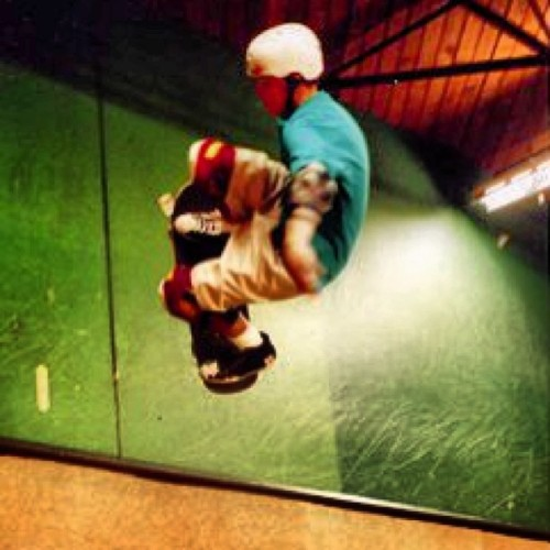 Peter Sullivan @ the Richmond Skate Ranch early 90 s . Air to Fakie riding for Schmitt Stix s , Vision street wear and Indy trucks . @supradist Same city may as well be Mars .