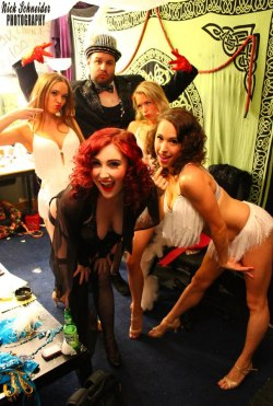 Backstage antics with My burlesque family