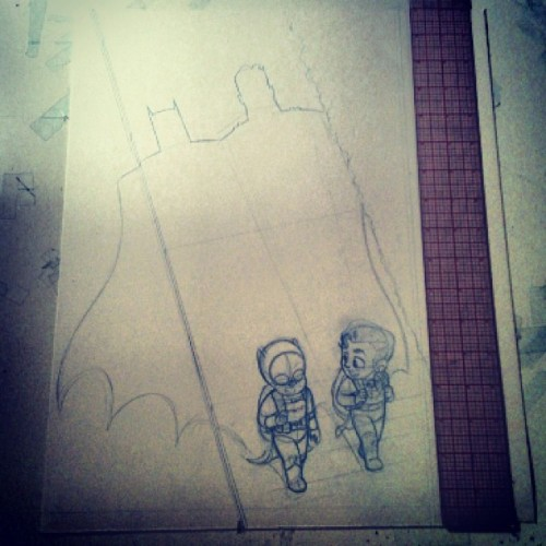 yalestewart:  New print in progress. HeroesCon exclusive.  A new print I'll be debuting exclusively at HeroesCon this June in Charlotte, NC. I'm not sure how many I'll make. Maybe 25? 50? It'll be a small batch. I'll post the final art when it's ready. Hope to see some of you guys there! HeroesCon Info