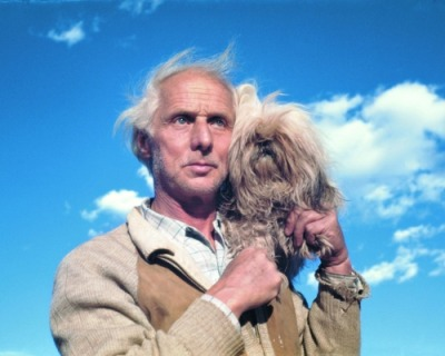 literarydogs:  Max Ernst with Katchina by Dorothea Tanning.