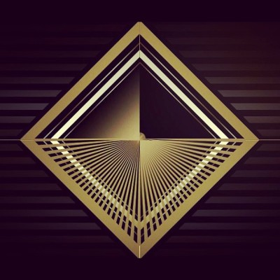 Trying out some shapes #design #cool #graphic #art #illustration #black #gold graphic