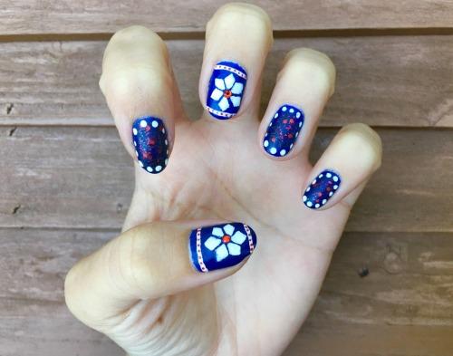 winter nails nail art christmas nails