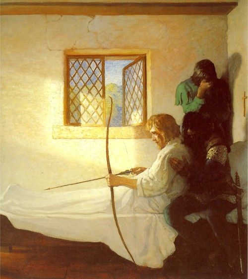 N.C.Wyeth, The Passing of Robin Hood, 1917