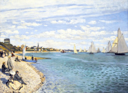 """ 1867 Regatta at Sainte-Adresse ""  ….  Artist:  Claude Monet"