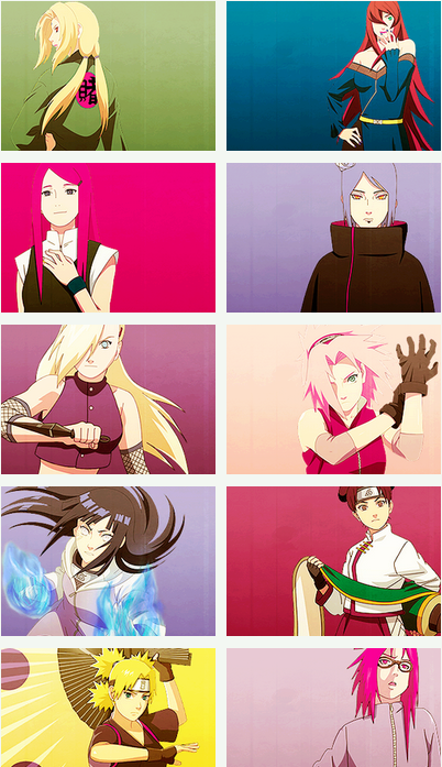 The women of Naruto.