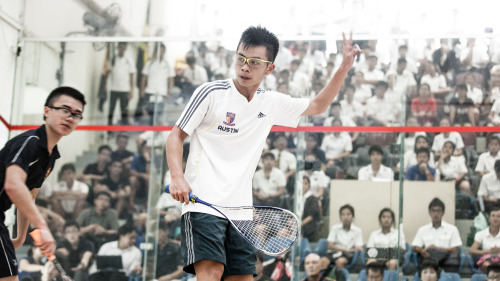 Squash vice captain Austin calling a double after as ACJC lose 4-1 to ACS (I) in the A division squash finals