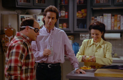 dailyseinfeld:  GEORGE: Now if I wanna see anything I gotta wear these.ELAINE: George, those are prescription goggles? What is there to see in a health club pool?JERRY: There's a lot of change down there.GEORGE: When I find that guy, this much I vow: those glasses will be returned to their rightful owner. JERRY: We're behind you, Aquaboy. Godspeed! (via The Glasses)