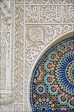 tropicalsounds:  Islamic Decorations At the Great Mosque Of Paris In Paris, France