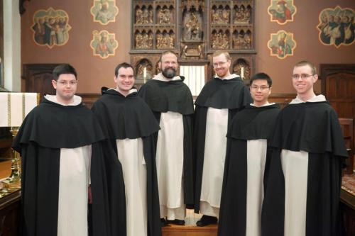 fatherangel:  Dominican friars of the Eastern province of Order of Preachers, who will be ordained priests on May 24, 2013 at St. Dominic's in Washington, D.C. Six new priests for the province! What a blessing.