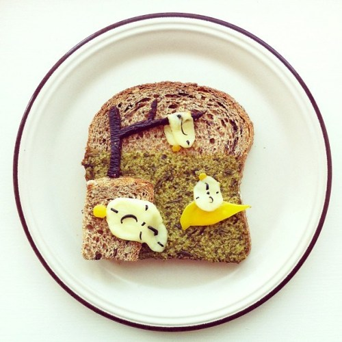 The Art Toast Project by Ida Skivenes Recreates Famous Works of Art Using Toast