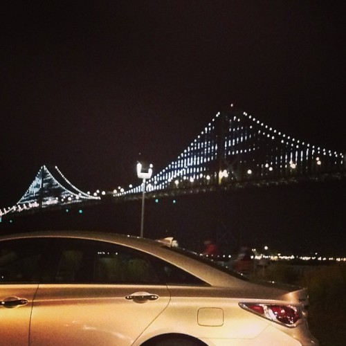 the #baybridge last night. so effin #beautiful #sf #sanfrancisco #california