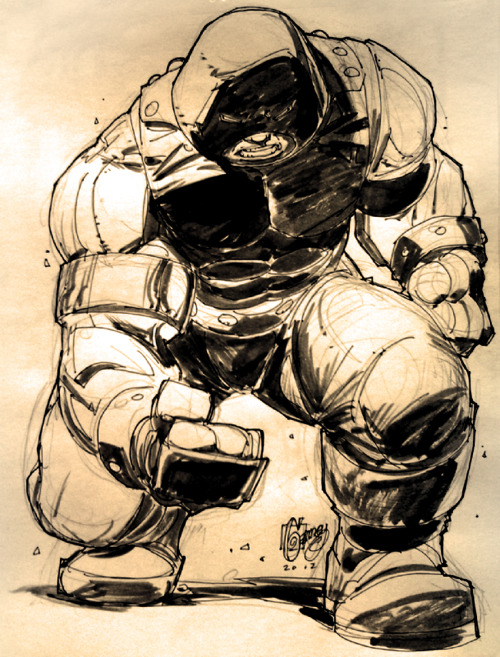 Sketch of the Juggernaut by Ron Garney.