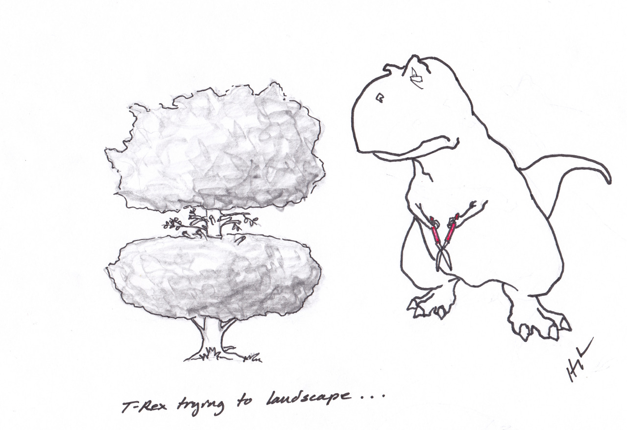 trextrying:  T-Rex Trying to landscape… #TRexTrying