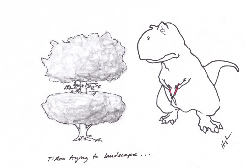 T-Rex Trying to landscape… #TRexTrying