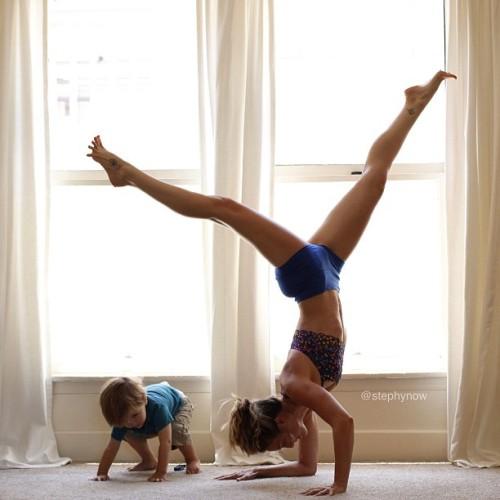 """On your mark, get set, GO!"" Taking toddler orders today. @ipwnyogadotcom #ipwnyogalikearockstar"
