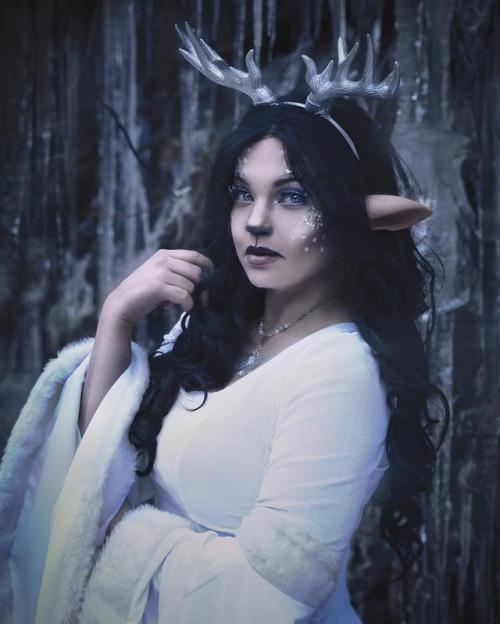 winter snow fantasy faun mythical creature white