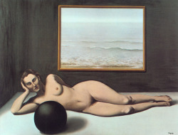 magrittee:  Rene Magritte - Bather Between Light and Darkness