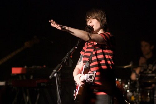 Sara Quin of Tegan and Sara at Belly Up Aspen Aspen, Colorado, April 30, 2008 Photograph by Joe Beine More photos at: http://www.waywardswan.com/tegan_and_sara/