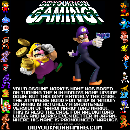 didyouknowgaming:  Super Mario Bros. and Wario.  http://en.wikipedia.org/wiki/Wario#Concept_and_creation