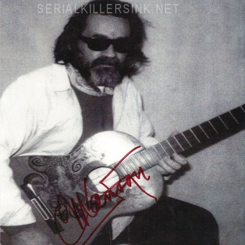 Signed 8x10 Charles Manson photograph