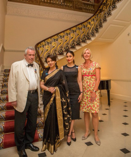 "Bollywood stars come together in London to support children's education in India LONDON, UK, 21 August 2014 - Bollywood actress and UNICEF India Goodwill Ambassador Sharmila Tagore and actress and UNICEF Celebrity Advocate, Kareena Kapoor Khan are pictured with former BBC war correspondent and UNICEF UK Ambassador, Martin Bell OBE, and UNICEF UK Deputy Executive Director, Anita Tiessen at The Ritz on Wednesday evening (20th August) for a dinner to support UNICEF's education work for children in India.Speaking at the event, Sharmila Tagore, who is celebrating ten years as a UNICEF India Ambassador, said; ""Over the last ten years, I've seen first-hand, the work UNICEF does to ensure that the rights of every child are realised. Education is one such right. It is the passport to life; without it children are less healthy, less skilled, have fewer choices and less hope for their future. Yet, sadly, access to education still remains a challenge, for millions of children in India. I am privileged to be associated with UNICEF and support their work to improve the lives of children in India.""UNICEF India Celebrity Advocate, Kareena Kapoor, urged guests to pledge their support for UNICEF, commenting; ""I recently visited Rajasthan with UNICEF to see child friendly schools and to meet some of the girls and boys that are benefitting from these programmes. I was inspired to see spaces which are child friendly. These are places where children are full of joy when they interact with teachers, where children feel safe and secure and where interactive and creative tools are used to ensure that children are happy and learning.""Anita Tiessen, UNICEF UK Deputy Executive Director, said; ""Sadly quality education still remains a challenge in India, particularly for girls – where the dropout rate at primary level is 41%. This is often because of attitudes towards the value in girls having an education or schools not having adequate and safe sanitation facilities. When girls drop out of school they become more vulnerable to child marriage, early and unsafe pregnancies, and it has a lasting impact on their future earning power.""By working with the Government and partners to roll out our education programmes in India, UNICEF can ensure more children, both boys and girls, are going to school, learning, and have a better chance of reaching their full potential.""For more information about UNICEF UK please visitwww.unicef.org.uk<http://www.unicef.org.uk>Image: © UNICEF / Bircan Tulga / 2014"