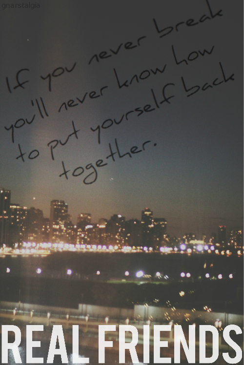 gnarstalgia:  Real Friends // Late Nights In My Car. edit by me.