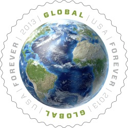 "The U.S. Postal Service released its first ever global stamp today at the United Nations headquarters in New York. ""This gorgeous stamp reinforces that truth. The United States remains committed to the idea of cooperation with our international partners – in this case to facilitate international postal communications,"" said U.S. Ambassador for UN Management and Reform Joseph Torsella"