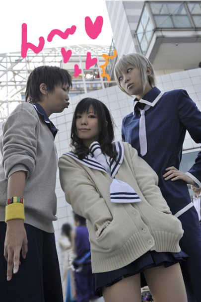 heckyeahfurubacosplay:  Kakeru Manabe, Kimi Toudou, and Yuki Sohma  love these three