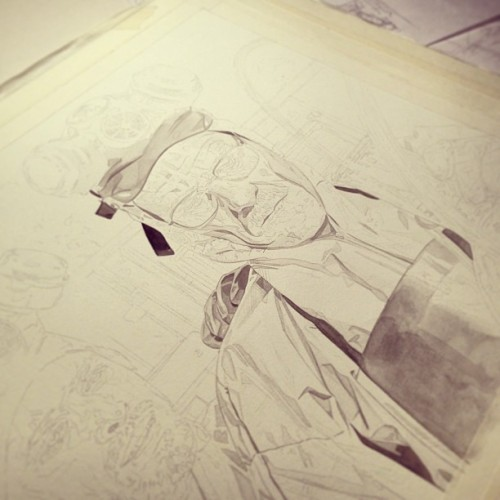 Started this Breaking Bad illustration that sadly had to be put on hold. Hopefully I'll get back to it in the future. Here is the under painting stage. Be sure to follow on Instagram for more!  http://instagram.com/roberthendrickson