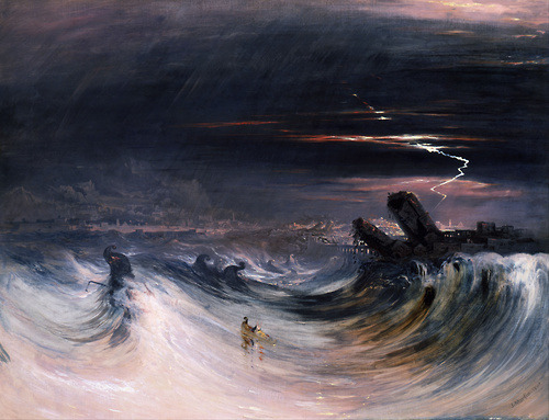 tea-and-tales:  John Martin - Destruction of Tyre. 1840