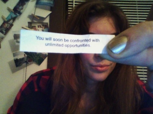 Fortune cookie timeliness.