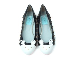 Bunny Motive Ballet Flats with jewels  $69.00  www.lebunnybleu.com