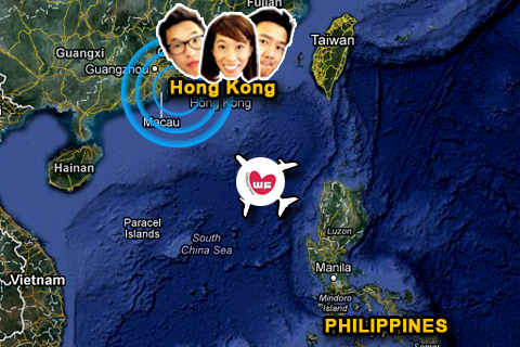 Now heading to Hong Kong~ Who's with us? LOL Welcome back to Asia, Phil, Wes, and Christine! Drop by the Philippines if you can! ^^